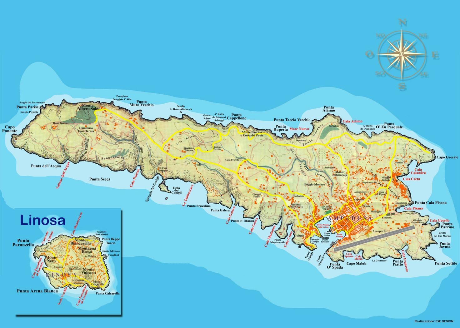 Maps Mediterranean Sea | Ruud and Bridget on Lampedusa